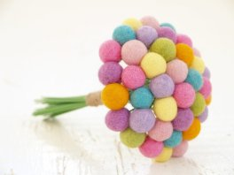 Felt bouquet, by FairyfolkWeddings on etsy.com