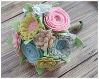 Felt bouquet, by SugarSnapBoutique on etsy.com