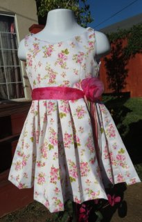 Floral flower girl dress, by AdorableDesignsbyS on etsy.com