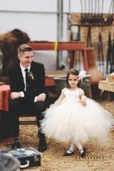 Flower girl dress, by alorasafari on etsy.com