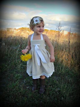 Flower girl dress, by cwcountryweddings on etsy.com