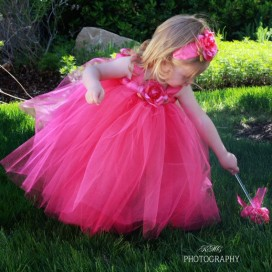 Flower girl dress, by FairytaleGarden on etsy.com