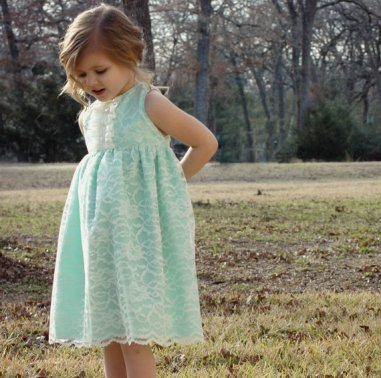Flower girl dress, by whatseweverdesigns on etsy.com