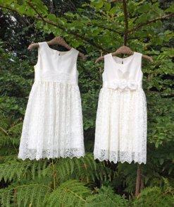 Flower girl dresses, by RhianEleri on etsy.com