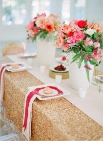 Gold sequin tablecloth, by mrsfreund on etsy.com