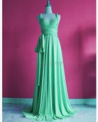 Green infinity bridesmaid dress, by myuniverse on etsy.com