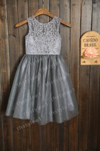 Grey flower girl dress, by thstylee1 on etsy.com
