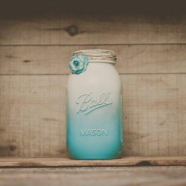 Mason jar vase, by StyleJarsandCans on etsy.com