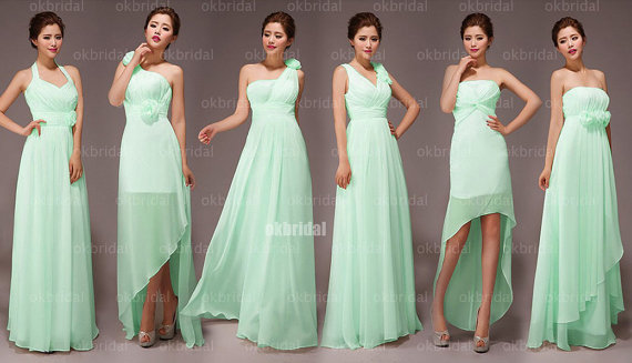Mint bridesmaid dress in various styles by okbridal on for Wedding dress styles for petite