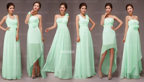 Mint bridesmaid dress in various styles, by okbridal on etsy.com