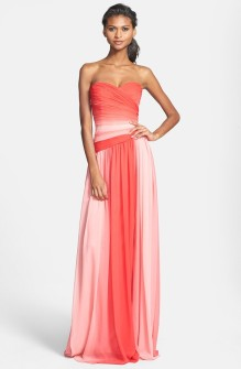 Monique Lhuillier ombre bridesmaid dress, from nordstrom.com