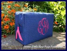 Monogram cosmetic bag - bridesmaid gift - by SomethingYouGifts on etsy.com