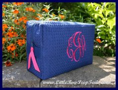 Monogram cosmetic bag - bridesmaid gift - by SomethingYouGifts on etsy.com