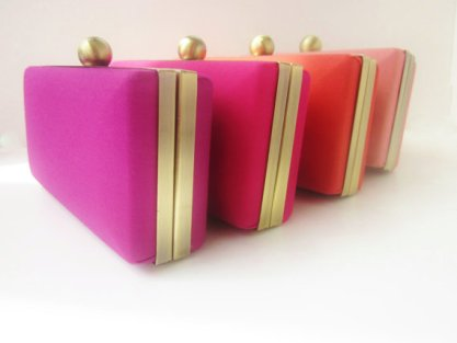 Ombre clutch purse set, by VincentVdesigns on etsy.com