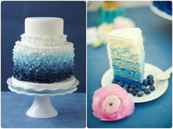 blue ombre wedding the merry bride