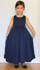 Organza flower girl dress, by SasAndAsa on etsy.com