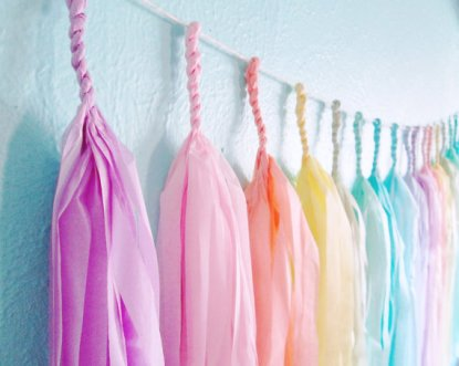 Paper tassel garland, by StudioMucci on etsy.com