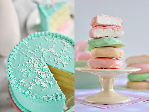 Pastel desserts {via omgimgettingmarried.com}