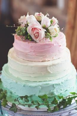 Pastel wedding cake {via whimsicalwonderlandweddings.com}