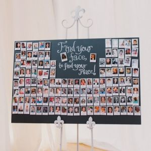 Photo seating plan! {via theknot.com}