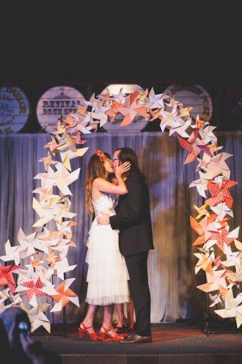 Pinwheel altar {via ruffledblog.com}
