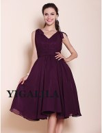 Plum bridesmaid dress, by YIGALILA on etsy.com