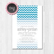 Printable wedding invitation, by JoliePapeterie on etsy.com