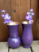 Purple vases, by HannaPlusJosh on etsy.com