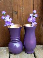 Purple vases, by HannaPlusJosh on etsy.com