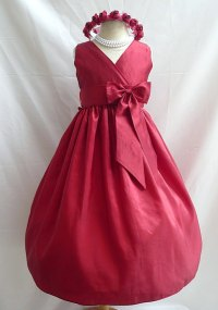 Red flower girl dress, by LuuniKids on etsy.com