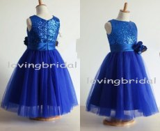 Royal blue flower girl dress, by lovingbridal on etsy.com