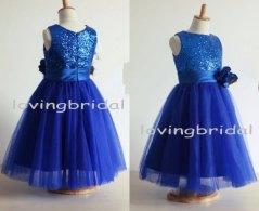 Royal blue flower girl dress, by lovingbridal on etsy.com