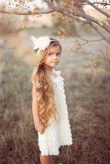 Ruffled flower girl dress, by PrettyPreciousKids on etsy.com
