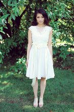 Short wedding dress or bridesmaid dress, by PureMagnoliaCouture on etsy.com