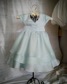 Silk flower girl dress, by ANASTASIACOUTURE on etsy.com