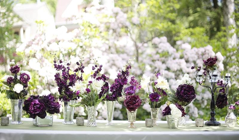eggplant purple and light grey wedding the merry bride. Black Bedroom Furniture Sets. Home Design Ideas