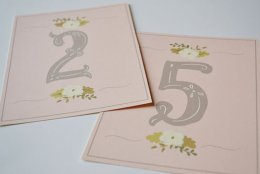 Table numbers, by firstsnowfall on etsy.com