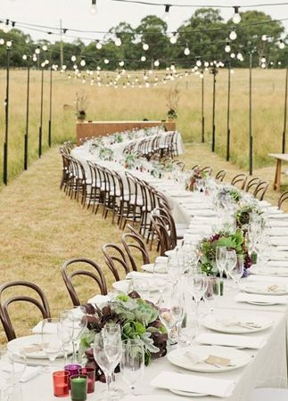 Unconventional reception seating {via theknot.com}