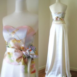 Unique wedding dress, by Shantique on etsy.com