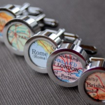 Vintage map cufflinks, by DaisyMaeDesignsShop on etsy.com