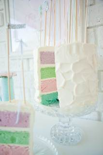 Wedding cake idea - pastels on the inside! {via modernwedding.com.au}