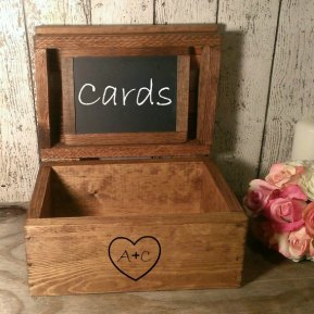 Wedding card box, by PineNsign on etsy.com
