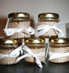 Wedding favour jars, by Melysweddings on etsy.com