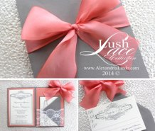 Wedding invitation, by AlexandriaLindo on etsy.com