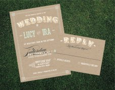 Wedding invitation, by blacklabstudio on etsy.com