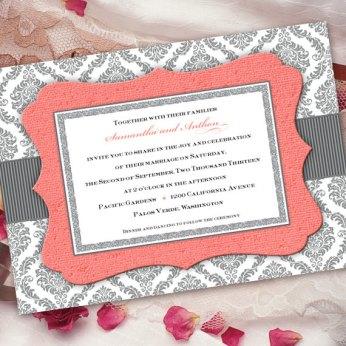 Wedding invitation, by CeceliaJane on etsy.com