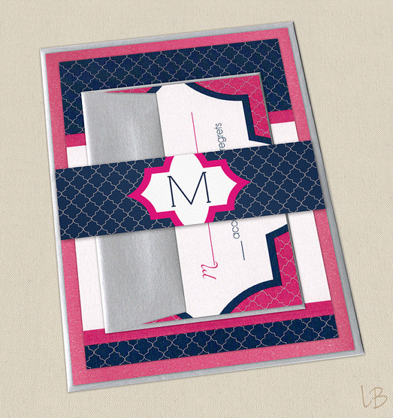 Hot Pink And Navy Wedding The Merry Bride