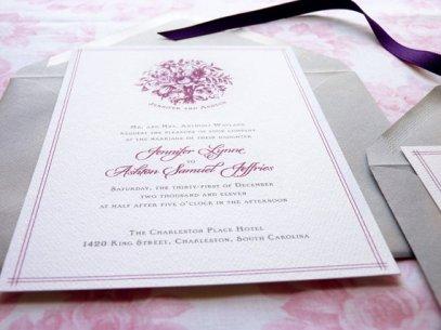 Wedding invitation, by merrymint on etsy.com