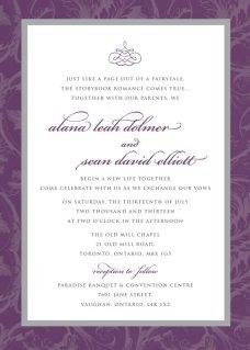 Wedding Invitation, by MsfitDesigns on etsy.com