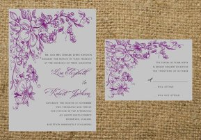 Wedding invitation, by NotableAffairs on etsy.com